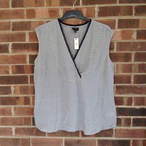 NWT Talbots 100% silk sleeveless top, Sz 12